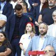 David Beckham et sa fille Harper lors du match de football de la coupe du monde féminine Norvège / Angleterre au Havre le 27 juin 2019 © Gwendoline Le Goff / Panoramic / Bestimage
