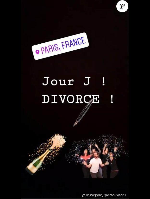 """Gaëtan de """"Mariés au premier regard 3"""" annonce son divorce avec Claire sur Instagram, le 28 juin 2019"""