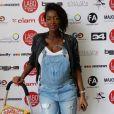 """Hapsatou Sy (enceinte) - Photocall """" 10 ans Labo International - Afro Fashion Remix """" à Paris Salon multi-ethnique""""LE LABO INTERNATIONAL"""" qui a eu lieu le 11 et 12 juin 2016 à l'espace des Blancs Manteaux dans le Marais."""