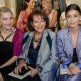 """Claudia Cardinale assiste au défilé de mode Haute-Couture Automne/Hiver 2019/2020 « Giorgio Armani Privé"""" à Paris. Le 2 juillet 2019. © Olivier Borde / Bestimage"""
