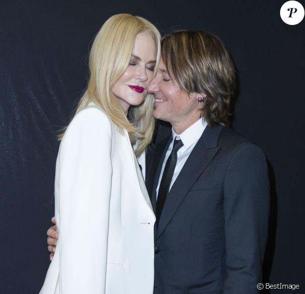 """Nicole Kidman et son mari Keith Urban au Défilé de mode Haute-Couture Automne/Hiver 2019/2020 """" Giorgio Armani Privé"""" à Paris. Le 2 juillet 2019. © Olivier Borde / Bestimage"""