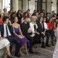 """Alexander Skarsgard, Nicole Kidman, son mari Keith Urban et Zendaya assistent au défilé de mode Haute-Couture Automne/Hiver 2019/2020 """" Giorgio Armani Privé"""" à Paris. Le 2 juillet 2019. © Olivier Borde / Bestimage"""
