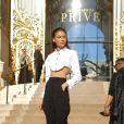 Zendaya arrive au défilé Haute Couture Armani Privé collection Automne-Hiver 2019/20 au Petit Palais à Paris, le 2 juillet 2019. © Veeren Ramsamy-Christophe Clovis/Bestimage