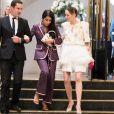 Leïla Bekhti et Marion Cotillard à la sortie du gala Vogue Foundation au Trianon à Paris, France, le 02 juillet 2019. © Tiziano da Silva/Bestimage