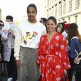 """Ophelie Bau et Romeo de Lacour - Arrivées au défilé de mode Hommes printemps-été 2020 """"Lanvin"""" à Paris. Le 23 juin 2019"""