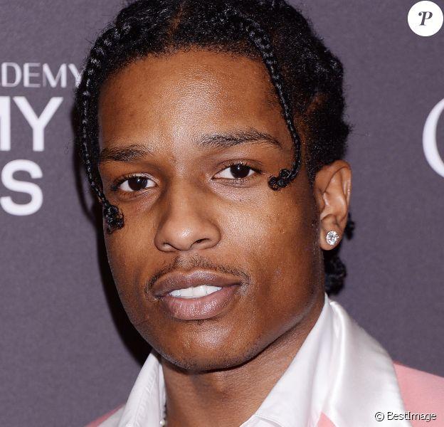 ASAP Rocky - Les célébrités posent lors de la soirée des Pre-Grammy Awards à Los Angeles le 10 février, 2019
