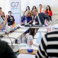 Brigitte Macron, Jean-Michel Blanquer, ministre de l'éducation nationale lors de la réunion des ministres de l'éducation en marge du G7 au centre international d'études pédagogiques à Sèvres le 4 juillet 2019. © Stéphane Lemouton / Bestimage