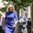 Brigitte Macron lors de la réunion des ministres de l'éducation en marge du G7 au centre international d'études pédagogiques à Sèvres le 4 juillet 2019. © Stéphane Lemouton / Bestimage