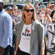 Celine Dion fait un passage dans une boutique Repetto à Paris pendant la fashion week Haute-Couture automne-hiver 2019/2020 le 3 juillet 2019.