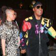 Stevie Wonder quitte le Peppermint nightclub avec sa femme Tomeeka Bracy après avoir fêté son anniversaire entre amis à West Hollywood, le 9 mai 2018