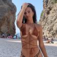 Emily Ratajkowski en vacances à Majorque, en Espagne. Juillet 2019.
