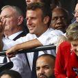Emmanuel Macron - Finale de la coupe du monde féminine de football, USA vs Pays Bas à Lyon le 7 juillet 2019. Les Etats-Unis ont remporté la finale sur le score de 2 à 0. © Gwendoline Le Goff/Panoramic/Bestimage