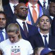 Christian Karembeu / Didier Drogba et Youri Djorkaeff - Finale de la coupe du monde féminine de football, USA vs Pays Bas à Lyon le 7 juillet 2019. Les Etats-Unis ont remporté la finale sur le score de 2 à 0. © Gwendoline Le Goff/Panoramic/Bestimage