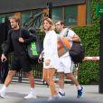 Exclusif - Amélie Mauresmo et Lucas Pouille à la sortie de leur entrainement lors du tournoi de tennis de Wimbledon à Londres. Le 26 juin 2019
