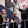 Megan Rapinoe - Les membres de l'équipe féminine de football américaine lors d'une parade de la victoire sur Broadway à New York le 10 juillet 2019. © Sonia Moskowitz/Globe Photos via ZUMA Wire / Bestimage