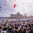 Les joueuses américaines de football participent à la parade sur Broadway à New York pour fêter leur victoire à la coupe du monde en France. New York. Le 10 juillet 2019.