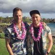 Gus Kenworthy et son compagnon Matt Wilkas. Instagram, avril 2016