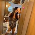 Nabilla, enceinte de son premier enfant, se dévoile en maillot de bain mettant en valeur son baby bump, le 15 juillet 2019 sur Instagram.
