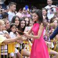 La reine Letizia d'Espagne assiste à la remise de prix des Queen Letizia awards (Premios Reina Letizia 2018) à Almagro le 9 juillet 2019.