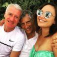 Didier Deschamps en vacances à Saint-Tropez avec Nagui et Valérie Bègue. Instagram, le 21 juillet 2018.