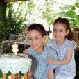 Le prince Moulay El Hassan du Maroc fêtant ses 8 ans le 8 mai 2013, avec sa petite soeur Lalla Khadija.