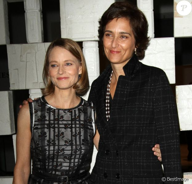 Jodie Foster et sa femme Alexandra Hedison au gala du musée Hammer à Los Angeles le 8 octobre 2016 © AdMedia via ZUMA Wire / Bestimage