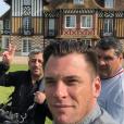 """Norbert et Bruno Cormerais sur le tournage de """"La Meilleure Boulangerie de France"""", le 17 avril 2019"""