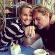 Laeticia et Johnny Hallyday sur Instagram le 1er février 2013.