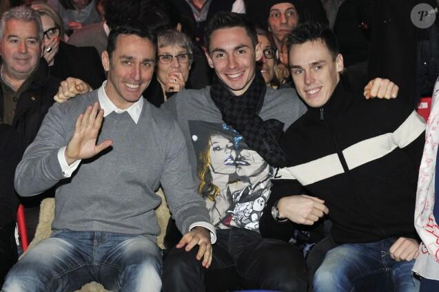 """Daniel Ducruet et ses fils Michael et Louis a la soiree """" New Generation """", 2eme Competition de Cirque pour de Jeunes Artistes a Monaco. Le 2 fevrier 2013"""