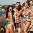 Jade Leboeuf en vacances sur la Côte d'Azur avec son mari Stéphane  Rodrigues et sa maman Béatrice Bodas. Instagram, le 22 juillet 2019.