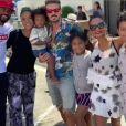 M. Pokora et Christina Milian en famille au festival de salsa d'Oxnard en Californie le 27 juillet 2019.