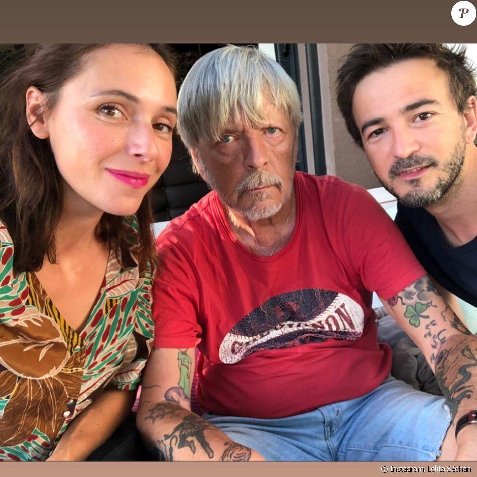 Lolita Séchan et son ex-compagnon Renan Luce célèbrent le 8e anniversaire de leur fille Héloïse avec Renaud - Instagram, août 2019.