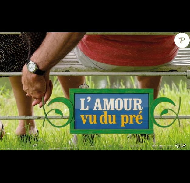 """Logo de l'émission """"L'amour vu du pré""""."""