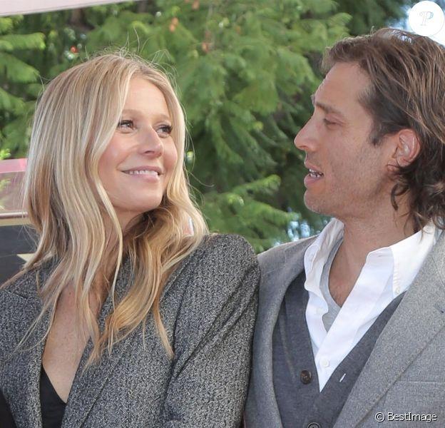 Gwyneth Paltrow et son mari Brad Falchuk - Ryan Murphy reçoit son étoile sur le Walk Of Fame à Hollywood, le 4 décembre 2018