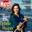 """Ophélie Meunier en couverture du magazine """"Paris Match"""", en kiosques jeudi 25 juillet 2019."""