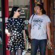 Exclusif - Krysten Ritter, enceinte, se balade avec son mari Adam Granduciel dans le quartier de North Hollywood à Los Angeles, le 3 juin 2019.