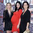 """Rachael Taylor, Krysten Ritter enceinte et Carrie Anne Moss à l'avant-première de la saison 3 de """"Jessica Jones"""" à The Arclight dans le quartier de Hollywood à Los Angeles, le 28 mai 2019."""