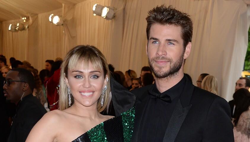 """Miley Cyrus et son mari Liam Hemsworth - Arrivées des people à la 71ème édition du MET Gala (Met Ball, Costume Institute Benefit) sur le thème """"Camp: Notes on Fashion"""" au Metropolitan Museum of Art à New York, le 6 mai 2019"""