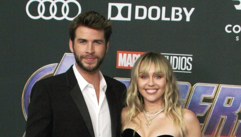 """Miley Cyrus et son mari Liam Hemsworth - Avant-première du film """"Avengers : Endgame"""" à Los Angeles, le 22 avril 2019."""
