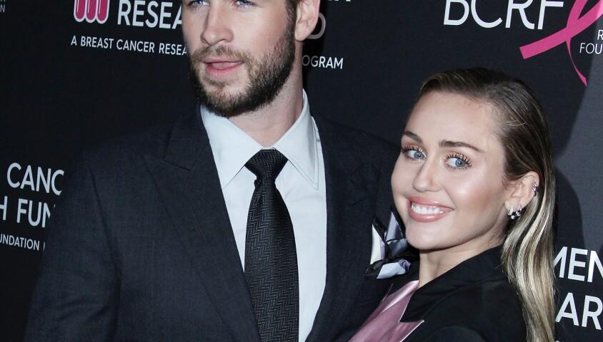 Miley Cyrus et son mari Liam Hemsworth à la soirée caritative The Women's Cancer Research Fund's An Unforgettable Evening à Beverly Hills, le 28 février 2019