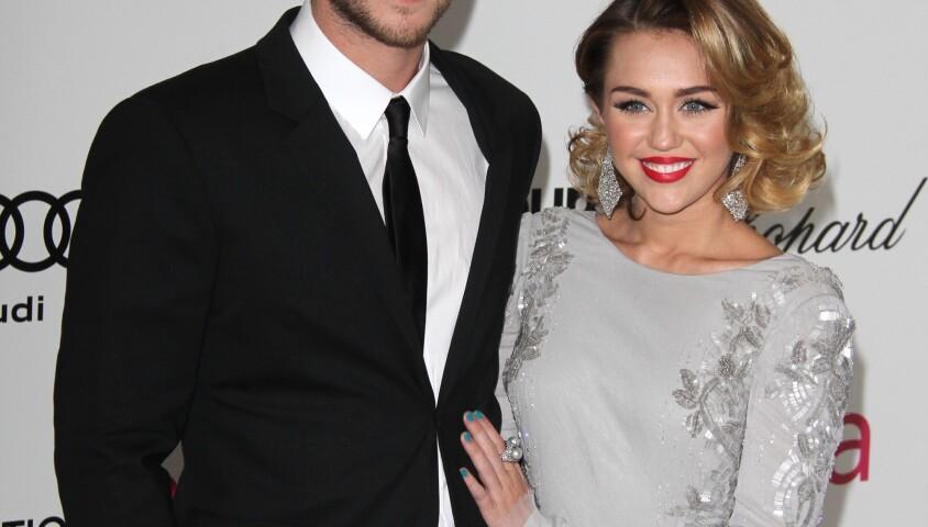 Miley Cyrus et Liam Hemsworth, le 26 février 2012. Los Angeles