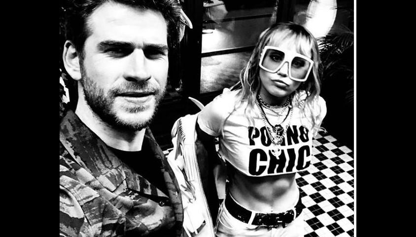 Liam Hemsworth et Miley Cyrus sur Instagram le 2 juin 2019.