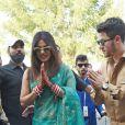 Nick Jonas et sa femme Priyanka Chopra arrivent à l'aéroport de Jodhpur après leur mariage au palais Umaid Bhawan, à Jodhpur, Inde, le 3 décembre 2018.
