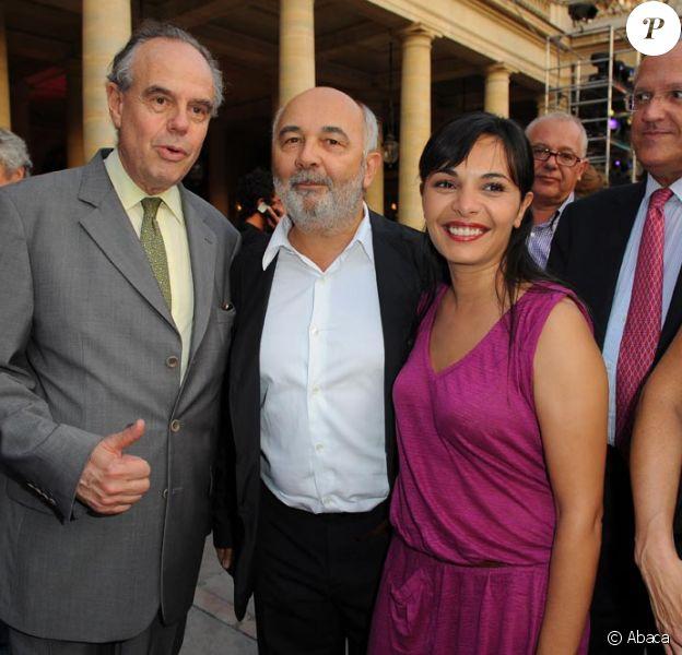 Frédéric Mitterand, Gérard Jugnot, Saida Jawad à la soirée organisée par le ministère de la Culture hier soir