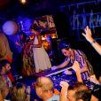 """Exclusif  - DJ The Avener (Tristan Casara) lors du St-Barth Family Festival 2019 au restaurant """"Le Ti' St Barth"""" sur l'île de Saint-Barthélemy, Antilles française, France, le 9 août 2019. © Xavier Merchet-Thau/PhotoStBarth/Bestimage"""