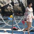 Kylie Jenner, Travis Scott et leur fille Stormi arrivent à l'Hôtel du Cap-Eden-Roc à Antibes. Le 14 août 2019.