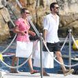 Sofia Richie et Scott Disick ont déjeuné à l'Hôtel du Cap-Eden-Roc à Antibes. Le 14 août 2019.