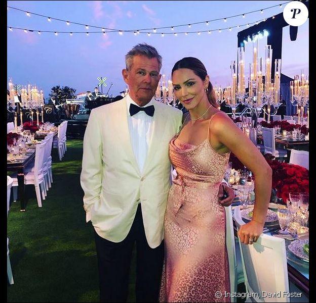 Katharine McPhee Foster et son mari David Foster. Août 2019.