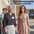 """La princesse Mary de Danemark au lancement de l'opération """"Behind the Community Survey"""" à Copenhague le 26 août 2019. 26/08/2019 - Copenhague"""