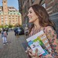 """La princesse Mary de Danemark lors de l'opération """"World Hour 2019"""" à la mairie de Copenhague le 26 août 2019."""